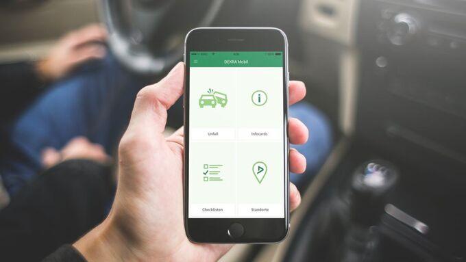Dekra Mobil App smartphone unfall gebrauchtwagen schritt für schritt smartphone