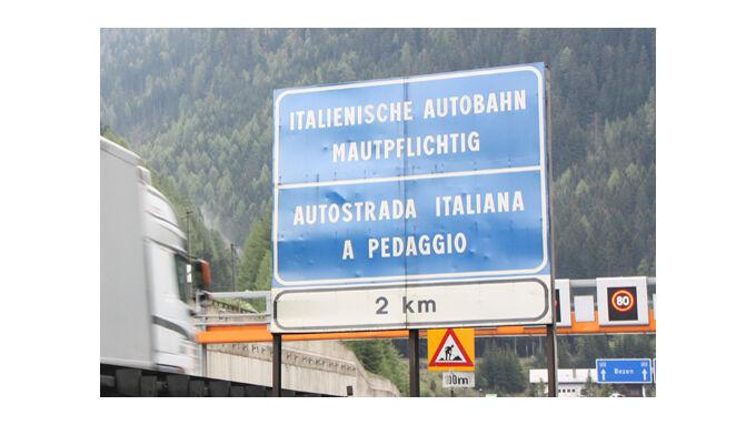 Maut in Italien steigt