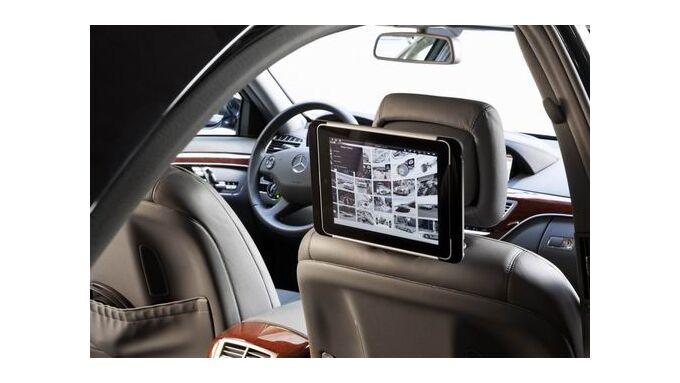 Nachrüstsatz für Tablet-Computer - Mercedes bringt das iPad ins Auto