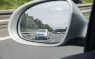 Rückspiegel Autobahn Schnellfahrer Toter Winkel