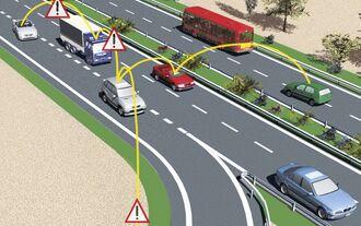 Vernetzte Autos warnen vor Gefahren