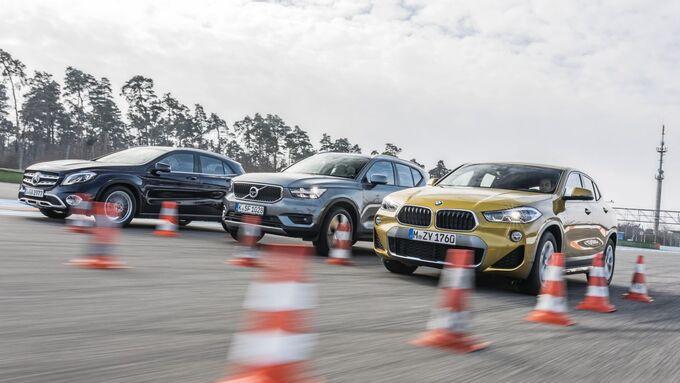 BMW X2 2018 Mercedes GLA 2018 Volvo XC 40 2018