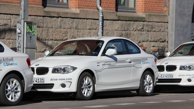 DriveNow flottet zum zweijährigen Jubiläum 20 vollelektrische BMW ActiveE ein.