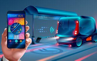 Eura, autonome,r Minibus, ÖPNV, smartphone, app, on, demand,