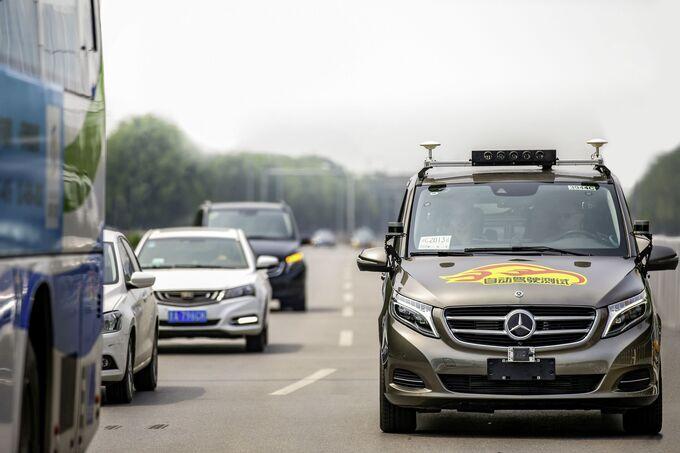 Mercedes-Benz teste autonomes Fahren in Peking