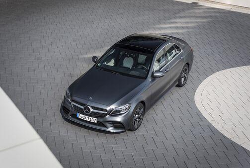 Mercedes C-Klasse 2018, schräg, oben, vorne
