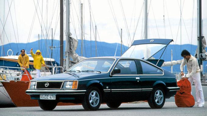 Opel Monza, Coupe, Schraeglenkerhinterachse, Einzelradaufhaengung, Scheibenbremsen