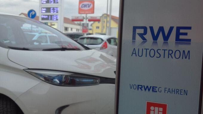 Renault Zoe Elektroauto laden RWE Ladesäule