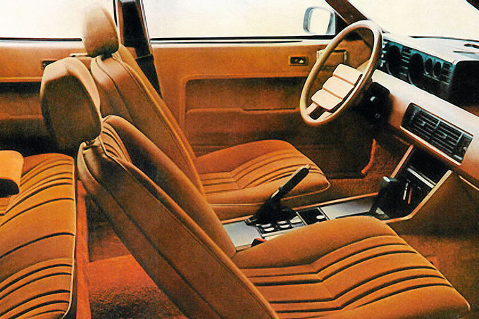 Rover 3500, Cockpit, plüschige Sitze