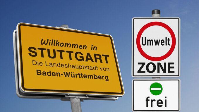 Stuttgart, Ortschild
