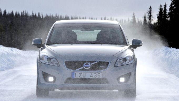 Volvo Electric im Winter