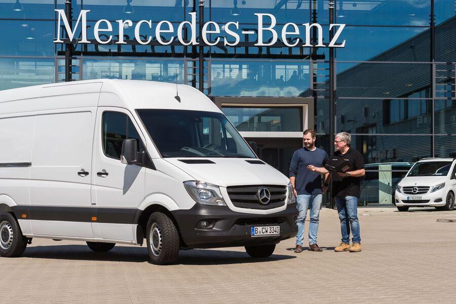 mercedes benz vans rental daimler startet transporter miete firmenauto. Black Bedroom Furniture Sets. Home Design Ideas